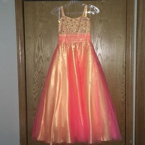 Girls sz 8 pageant gown by Tiffany Designs